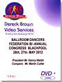 2012 Ballroom Dancers Federation Int'l Congress DVD (4DVDs)