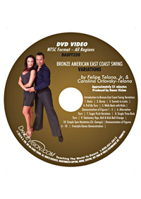 American Style Bronze East Coast Swing Variations DASFT320