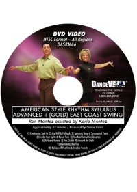 American Style Rhythm Syllabus Advanced II (Gold) East Coast Swing DASRM66