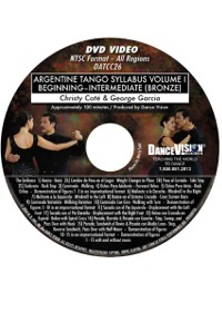 Argentine Tango Syllabus Volume I - Beginning-Intermediate (Bronze) DATCC26