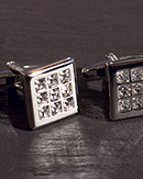 Chrisanne Square Cufflinks With Crystal