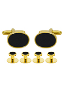 Black Luxury Cufflinks & Studs Set