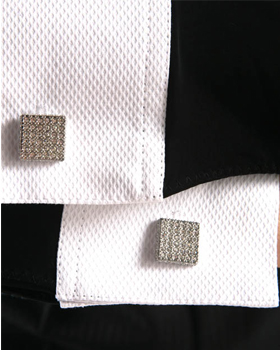Crusty Square Cufflinks 4612