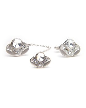 DZ Diamond Irregular Cuff link