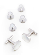 Mother of Pearl Luxury Cufflinks & Stud Set