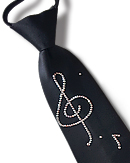 Vito Dance Crystallized Music Notes Zip Tie