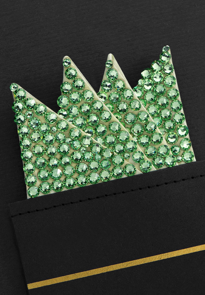 Vito Dance Crystal Pocket Square - Peridot