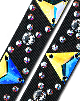 Ballroom Ave Crystallized Shoe Straps CS401 BLK