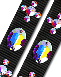 Ballroom Ave Crystallized Shoe Straps CS402 BLK