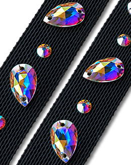 Ballroom Ave Crystallized Shoe Straps CS404 BLK
