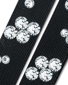 Ballroom Ave Crystallized Shoe Straps CS504 BLK