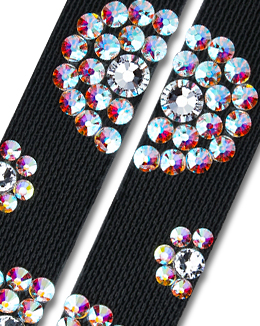 Ballroom Ave Crystallized Shoe Straps CS505 BLK