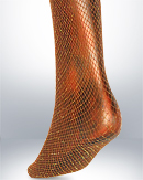 Fishnet Tights Golden Lurex Tread Seamless - Joanna Trojer