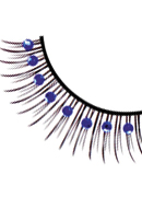Glamour - Black-Blue Rhinestone Eyelashes 566