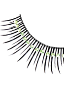 Glamour - Black-Light Green Rhinestone Eyelashes 590