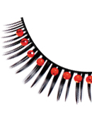 Glamour - Black-Red Rhinestone Eyelashes 562
