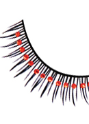 Glamour - Black-Red Rhinestone Eyelashes 593