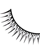 Glamour - Black-White Rhinestone Eyelashes 573