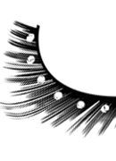 Glamour - Black-White Rhinestone Eyelashes 586