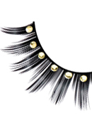 Glamour - Black-Yellow Rhinestone Eyelashes 572