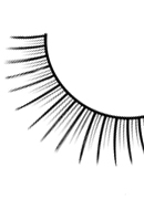 Glamour - Black Deluxe Eyelashes 563