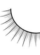 Glamour - Black Deluxe Eyelashes 576