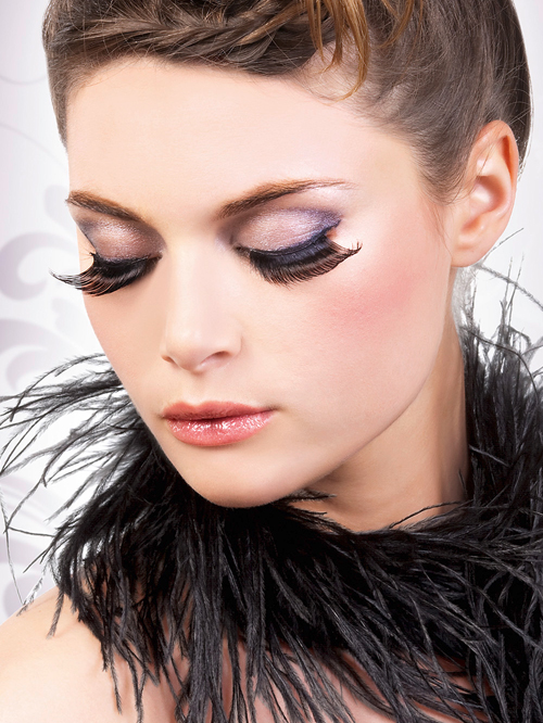 Glamour - Black Feather Eyelashes 569
