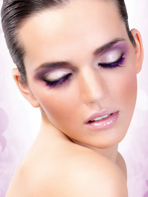 Magic Colors - Purple Deluxe Eyelashes 545