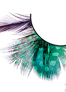 Paradise Dreams - Black-Green Feather Eyelashes 610