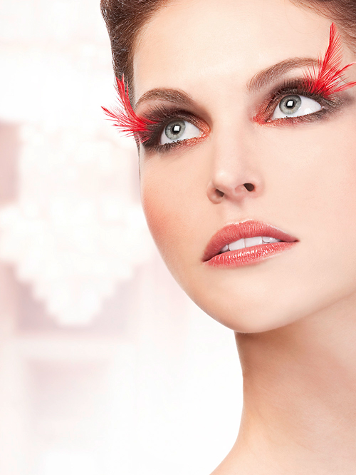 Paradise Dreams Black Red Feather Eyelashes 624