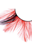 Paradise Dreams - Black-Red Feather Eyelashes 636