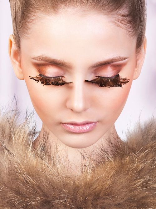 Paradise Dreams - Brown Feather Eyelashes 631