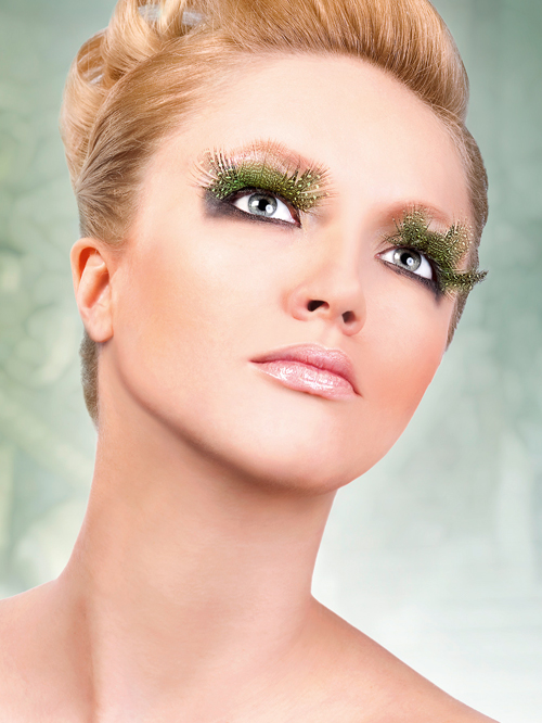 Paradise Dreams - Light Green Feather Eyelashes 629