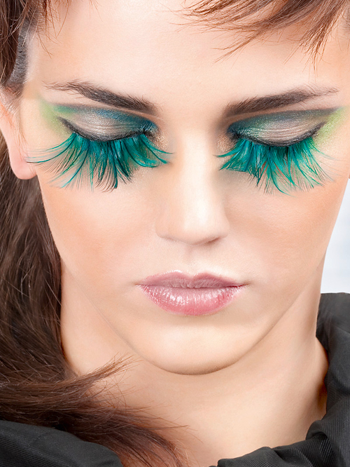 Paradise Dreams - Turquoise Feather Eyelashes 615