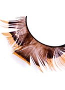 Paradise Dreams - Yellow-Brown Feather Eyelashes 625