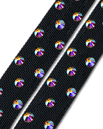 Crystal Shoes Straps ASWS 01 Black