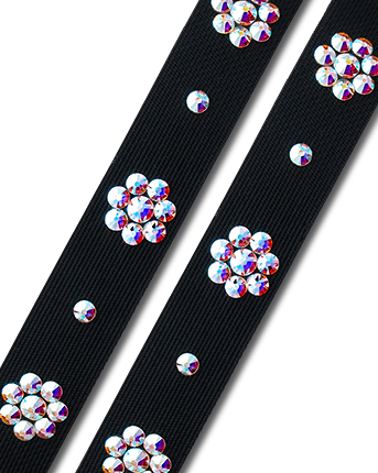 Crystal Shoes Straps ASWS 04 Black