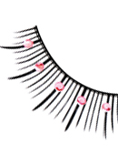 Starlight Edition - Black-Baby Pink Rhinestone Eyelashes 486