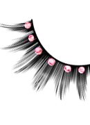 Starlight Edition - Black-Baby Pink Rhinestone Eyelashes 505