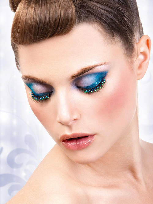 Starlight Edition - Black-Blue-Green Rhinestone Eyelashes 508