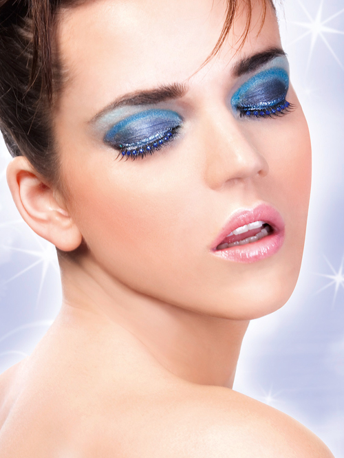 Starlight Edition - Black-Blue Rhinestone Eyelashes 490