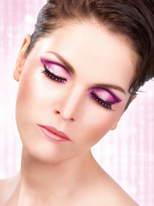 Starlight Edition - Black-Purple Rhinestone Eyelashes 502