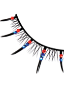 Starlight Edition - Red-Blue Rhinestone Eyelashes 495
