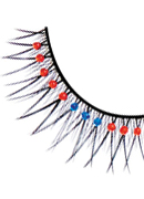 Starlight Edition - Black-Red-Blue Rhinestone Eyelashes 497