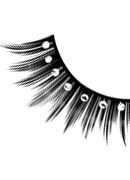 Starlight Edition - Black-White Rhinestone Eyelashes 487