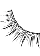 Starlight Edition - Black-White Rhinestone Eyelashes 489