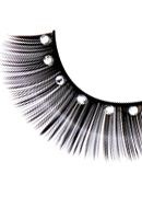 Starlight Edition - Black-White Rhinestone Eyelashes 491