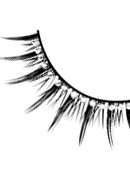 Starlight Edition - Black-White Rhinestone Eyelashes 494