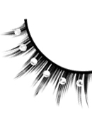 Starlight Edition - Black-White Rhinestone Eyelashes 509