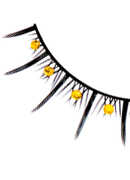 Starlight Edition - Black-Yellow Rhinestone Eyelashes 503